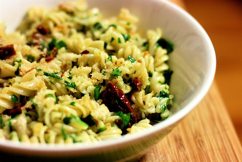 Pasta Gremolata with Sundried Tomatoes and Garlic Breadcrumbs