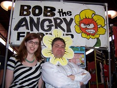 APE 2007: Mikhaela Reid visits the Bob the Angry Flower booth