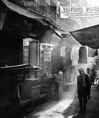 Varanasi Street (mydearboy) Tags: street leica travel light shadow urban bw india monochrome trix varnasi