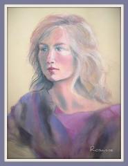 Portrait of a Young Woman (annieA) Tags: portrait art pastel jalalspagesartandcraftalbum