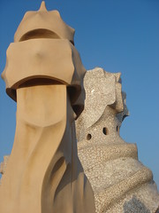 Roof of the Casa Mil (Nick Boalch) Tags: barcelona gaud casamil
