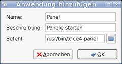 XFCE Panel Autostart