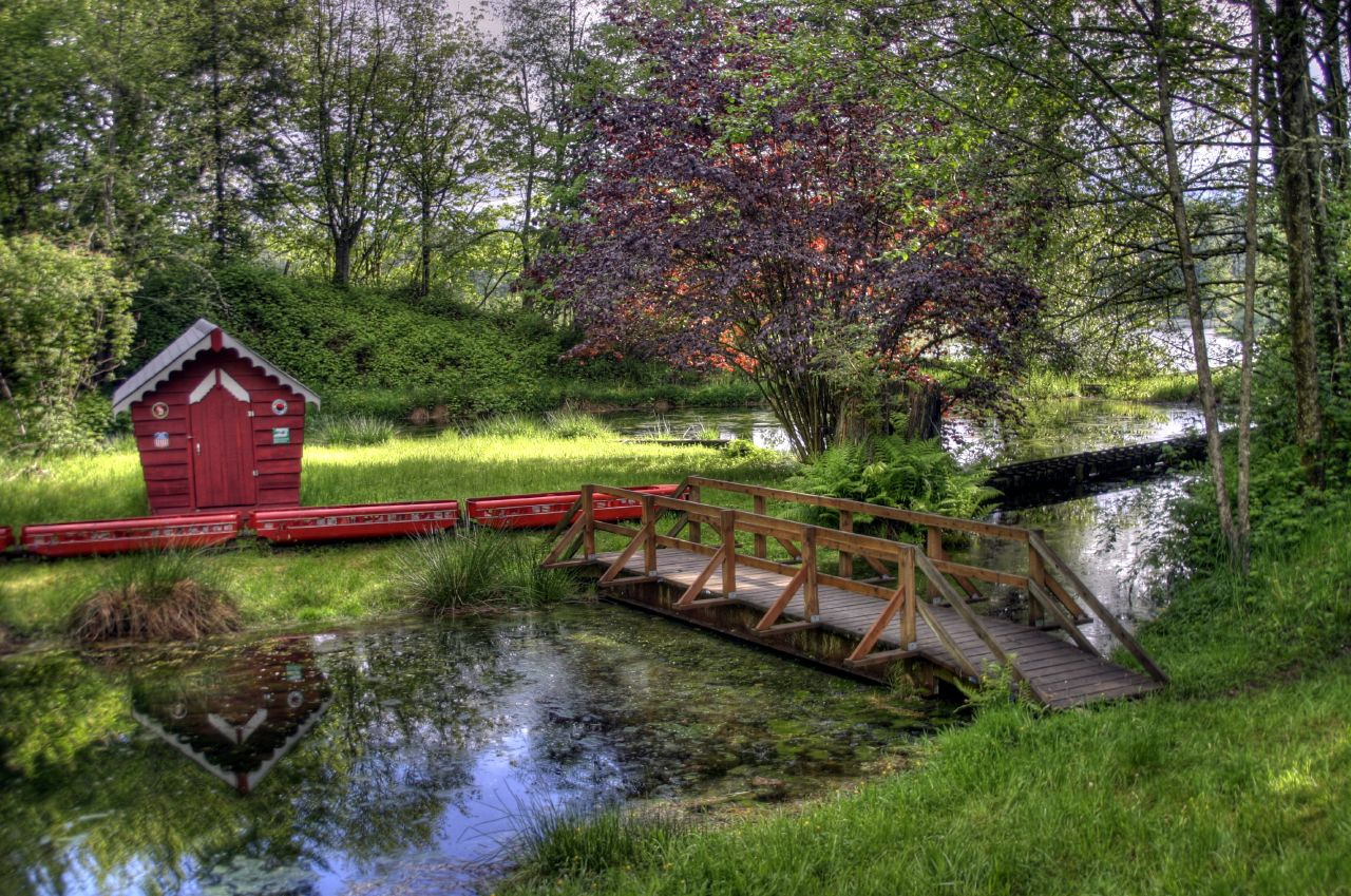 Camp Gilead's serene train track