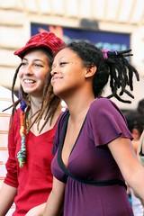 IMG_4887m (matteo_dudek) Tags: two people rome roma dreadlocks demonstration mmm due redviolet duepersone trecce cortei photofaceoffwinner photofaceoffsilver rossoviola pfosilver