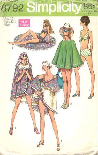 Bathing suit/poncho, 1970