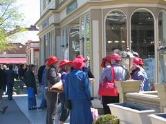 Red Hats (sayuri_30) Tags: niagarafalls niagara harley redhat motorcycle niagaraonthelake redhatsociety portdalhousie toyrun broniagara coverthekids