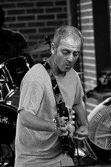 Guitar (elventear) Tags: musician music festival guitar memphis tennessee band blues guitarrist memphisinmay bealest b38w black38white