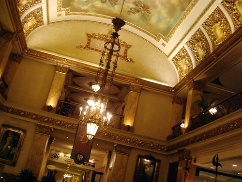 The lobby of the Pfister Hotel in Milwaukee