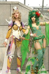 Rosa Farrell + Rydia of the Mist, Final Fantasy IV (cosplay shooter) Tags: girls anime comics costume comic cosplay manga rosa leipzig convention cosplayer finalfantasy breathtaking rollenspiel buchmesse 2007 bookfair roleplay lbm rydia noema leipzigerbuchmesse chercherlafemme elsch rydiaofthemist mygearandmepremium mygearandmebronze 25000z 30000z x201207