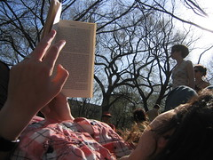 shira and i watching the crowd at tompkins square park by arimoore, on Flickr