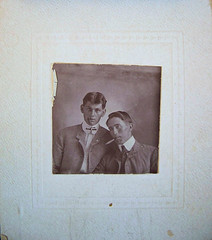 victorian gentlemen with cigars (deflam) Tags: friends portrait men vintage victorian smoking cigars carroll greatgrandfather edwardian gentlemen collars gilmer