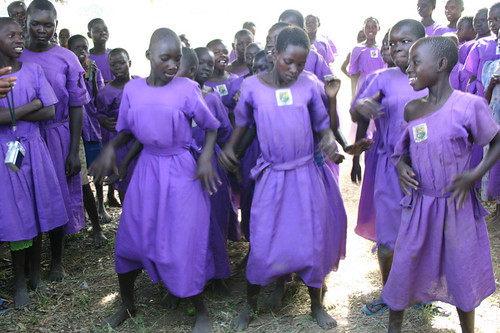 Girls dancing, Tubur Primary School, Soroti, Uganda