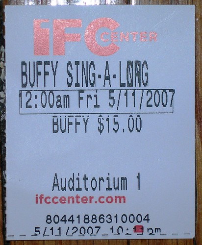 Buffy Ticket Stub