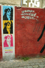 Adrienne Shelly by Spencer (SpUtNik 23 -RUR und MKZ) Tags: street brussels urban streetart art wall stencil bruxelles faucon lesmarolles adrienneshelly ruedufaucon