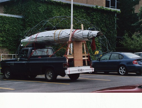 Transporting the rolled up steel deployable randome