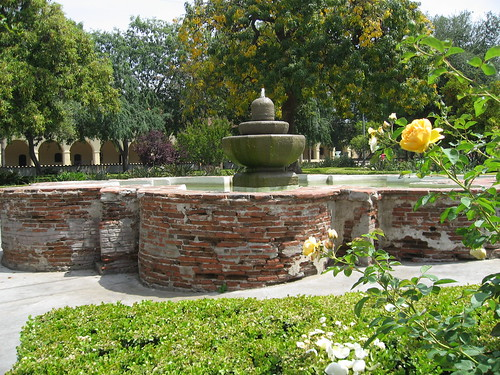 San Fernando Mission - The Fountain in Brand Park