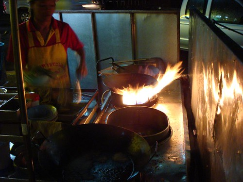 Fire cooking in Phitsanulok.