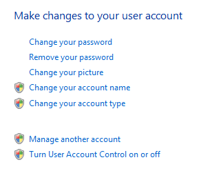 disable User account control in Windows vista