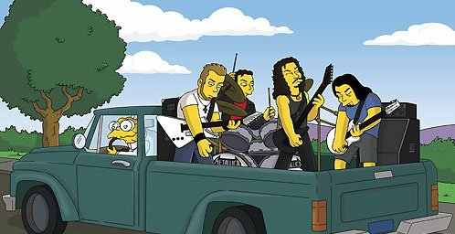 metalica en los simpsons