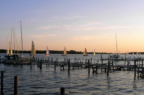 Evening sails