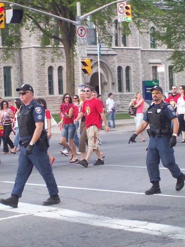 Ottawa Policemen on Elgin Street.