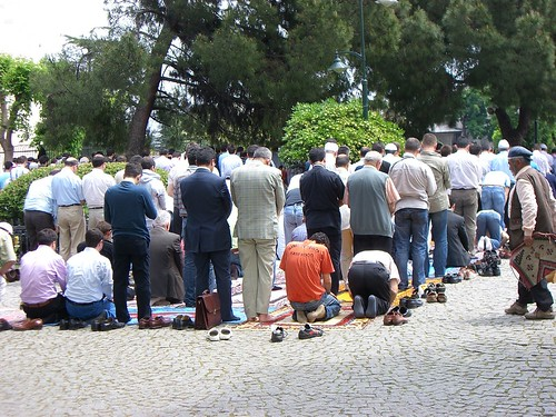 Friday prayer in Istanbul