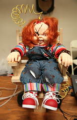 """Onda dockan """"Chucky"""" i elektriska stolen"""