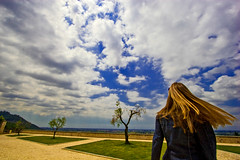 Reap the Wild Wind (Pensiero) Tags: trees sky woman clouds hair wind giada selectedasthebest spselection valvisciolo abbaziadivalvisciolo