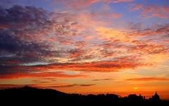 Barcelona Sky (Andrew E. Larsen) Tags: barcelona sunset sky sun clouds sunrise blog interestingness spain europe best explore winner catalunya backlit digitalrebelxt winners colorphotoaward impressedbeauty papalars andrewelarsen