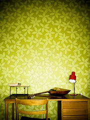 Green in the living room (Georgios Karamanis) Tags: uppsala sweden home wallpaper chair lamp music instrument green wood karamanis explored red leaves book wire flash world100f justhome sverige getty