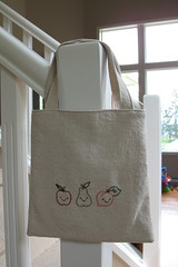 Toddler Tote - Happy Fruit