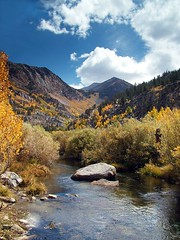 Autumn Fire below South Lake (zpowderhound) Tags: trip autumn vacation mountains color fall nature landscape scenic foliage streams