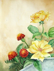 flowers (my paintings) Tags: flowers flower art rose watercolor painting persian paint artist iran persia iranian esfahan isfahan aliehs alieh anawesomeshot