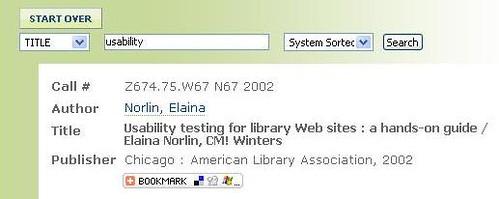 Ejemplo de un registro catalográfico que ingluye tagging