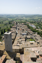 View from one of the towers in San Gimignano