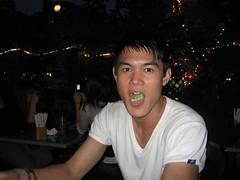 Kai chows down on edemame
