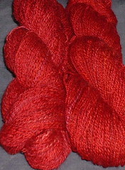 red shawl yarn