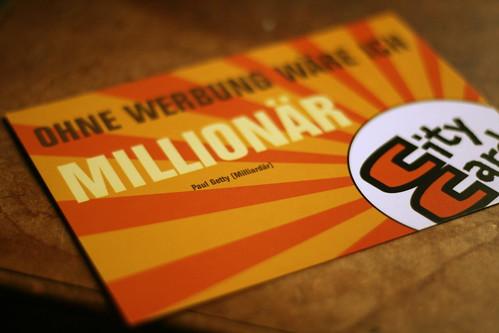 Ohne Werbung wär ich Millionär