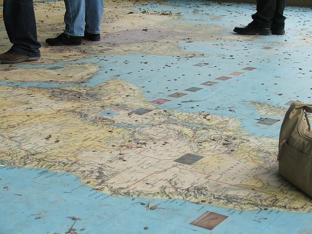 Weltkarte im Park