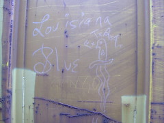 Louisiana Blue (Valentine Hobart) Tags: gringos ganggraffiti moniker boxcarart louisianablue ftra freighttrainridersofamerica