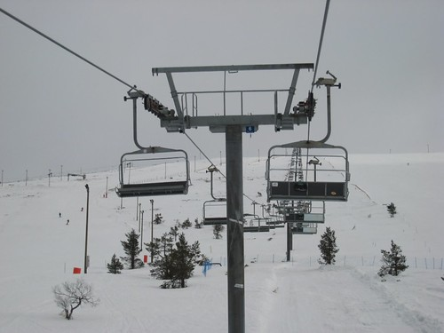 New chair lifts in Äkäslompolo side