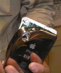 iPod destroyed by bullet