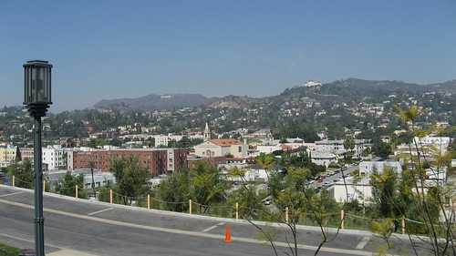 View of Hollywood from Hollyhock House