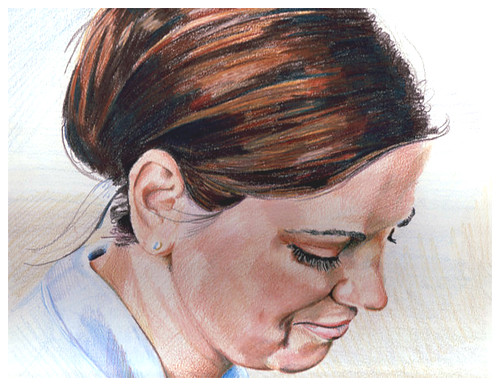 Colored pencil drawing entitled Kate