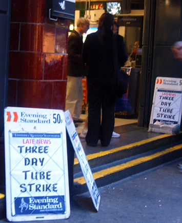 Three Day Tube Strike from Sunday