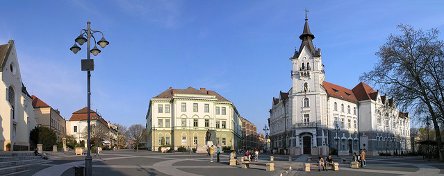 Kaposvar - Kossuth square panorama