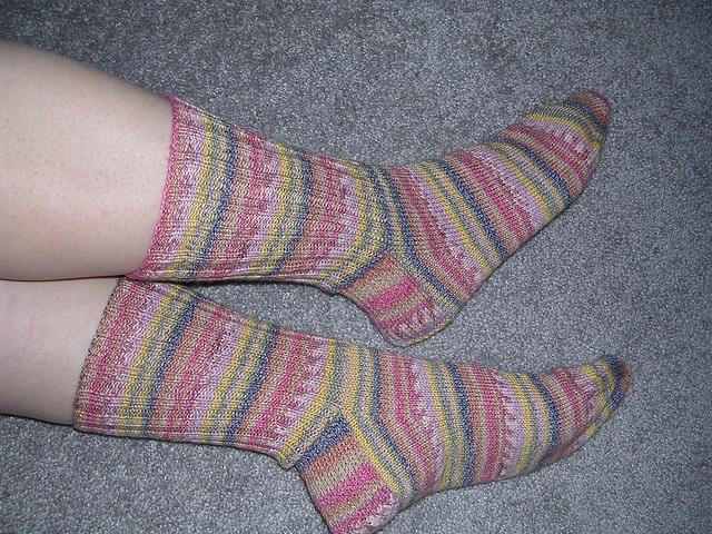 Amazing Technicolor Dream Socks by PAKnitWit