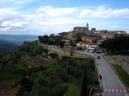 View of Montalcino from the Fortezza