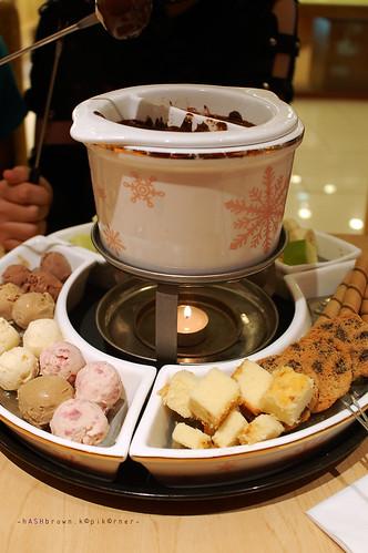 Ice cream fondue!