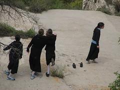 Three and One (mekron) Tags: girls jerusalem bodylanguage lifta mekron